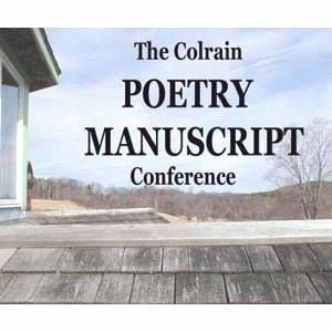 Colrain Poetry Manuscript Conference slideshow logo